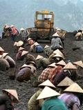 A Group of Scavenger Coal Workers - Fotografik Baskı