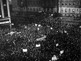 Packed Tightly in Cadillac Square are Thousands of People Who Gathered for a Mass Demonstration Photographic Print