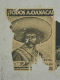 Weathered Street Poster Depicting Pancho Villa, Oaxaca, Mexico Photographic Print by Judith Haden