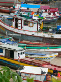 Colorful Boats, Panama City, Panama Photographic Print by Keren Su