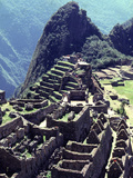 The the Inca Citadel of Machu Picchu Photographic Print