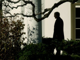 President Bush Walks out of the Oval Office to Make a Statement the South Lawn of the White House Photographic Print