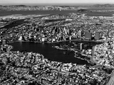 This Aerial View Shows the City of Oakland, Calif., in the Foreground Fotografie-Druck
