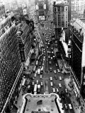 Heavy Traffic Moves Along Broadway and Seventh Avenue Photographic Print
