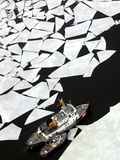 Gigantic Shards of Ice Drift Near a Pair of Coast Guard Cutters Photographic Print