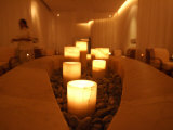 Candle Lighting Luminates the Spa Photographic Print