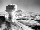 Black Smoke and Ash Drift Skyward as Mount St. Helens Erupts Photographic Print