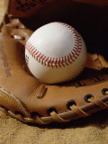 Baseball in a Glove Photographic Print