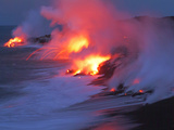 Lava from the Kilauea Volcano Photographic Print