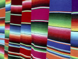 Colored Blankets For Sale, Oaxaca, Mexico Photographic Print by Alexander Nesbitt