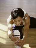Brunette Stretching Photographic Print