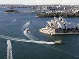 Ferries Pass the Sydney Opera House Photographic Print