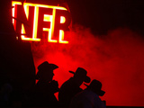 Stockmen Watch the Opening Ceremonies of the National Finals Rodeo Photographic Print