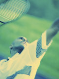 Close-up of a Young Man Playing Tennis Photographie