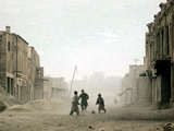 Children Play in the Old Town of Kabul, Afghanistan Photographic Print