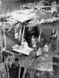 Nurses are Seen Clearing Debris from One of the Wards in St. Peter's Hospital, Stepney, East London Photographic Print