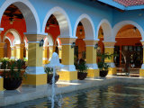 Lobby of Iberostar Resort, Mayan Riviera, Mexico Photographic Print by Lisa S. Engelbrecht
