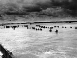 U.S. Reinforcements Wade Through the Surf as They Land at Normandy Photographic Print