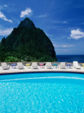 Petit Piton Stonefield Estate Villa Resort Soufriere, St. Lucia Photographic Print
