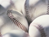 Close-up of Baseballs Photographic Print
