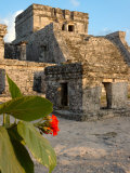 Ruins with Sun Setting on Buildings of Tulum, Mexico Photographic Print by Lisa S. Engelbrecht