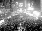 This Aerial View Shows New York's Times Square at Midnight Photographic Print
