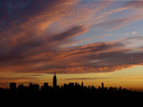 The Empire State Building is the Focal Point of the New York Skyline at Sunrise Photographic Print