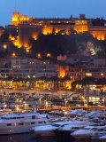 Night Falls onto the Monaco Palace Photographic Print