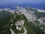 Christ the Redeemer Statue Mount Corcovado Rio de Janeiro, Brazil Photographic Print