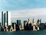The World Trade Center's Twin Towers Dominate the New York Skyline Photographic Print
