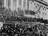 A Scene in Front of the Capitol During Lincoln's Second Inauguration,1865 Photographic Print