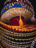 Stack of Sombreros For Sale, Puerto Vallarta, Mexico Photographic Print by John & Lisa Merrill