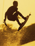 Silhouette of a Man Wakeboarding Photographie