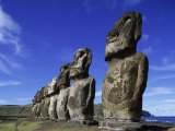 Moai Ahu Tongariki, Easter Island, Chile Photographic Print