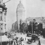 This Ca. 1900 Photograph Shows a Street Scene in San Francisco, California Photographic Print