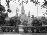 The Famed Old St. Louis Cathedral Faces Jackson Square or Place D'Armes Photographic Print