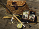 Close-up of Fly Fishing Tackle Photographic Print