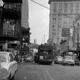 St. Charles Avenue and Poydras Street in New Orleans Fotografie-Druck
