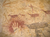 Ancient Paintings in Cave of the Hands, Santa Cruz Province, Patagonia, Argentina Photographic Print by Lin Alder
