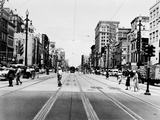 The Streetcar Tracks of Canal Street in New Orleans Photographic Print
