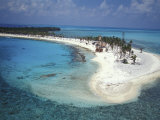 Aerial View of Lighthouse Reef, Belize Photographic Print by Greg Johnston
