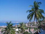 View of Downtown Puerto Vallarta and the Bay of Banderas, Mexico Photographic Print by John &amp; Lisa Merrill