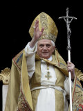 Pope Benedict Xvi Delivers His &#39;&#39;Urbi Et Orbi&#39;&#39; Message Photographic Print