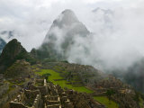 Ancient Ruins of Machu Picchu, Andes Mountain, Peru Photographic Print by Keren Su