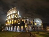 The Ancient Colosseum is Lit up for the Occasion of the Day for the Abolition of the Death Penalty Photographic Print