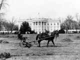 This is an Undated View of the White House Building Photographic Print