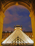 View of the Pyramid and the Louvre Museum Building Photographic Print