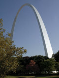 The Gateway Arch Rises High Above the Grounds of the Jefferson National Expansion Memorial Photographic Print