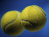 Close-up of Two Tennis Balls Photographic Print