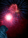 Fireworks Explode Over the Korean War Veterans Memorial Photographic Print